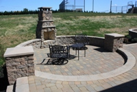 Outdoor Patio Fireplace Columbia Maryland