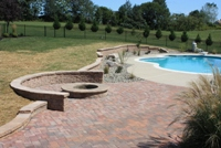 Pool Deck Retaining Wall Howard County Maryland